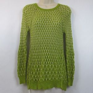 Anthropologie Moth Green Slouch Sweater